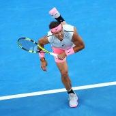 Rafa Nadal, durante su debut en el Open de Australia