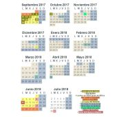 Calendario Escolar 2017-2018 de Madrid