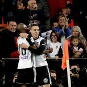 Rodrigo Moreno celebra un gol ante el Alavés