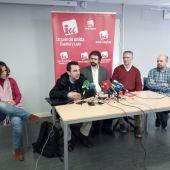 Rueda de prensa de IU con José Sarrión en Segovia