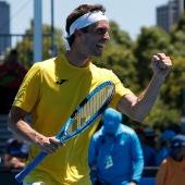 Albert Ramos celebra un punto en el Open de Australia