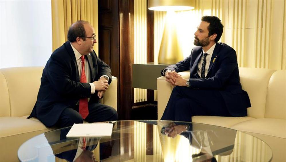 Miquel Iceta y Roger Torrent