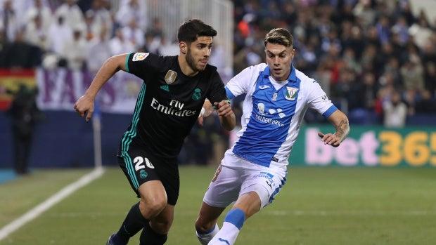 Asensio conduce el balón ante el Leganés