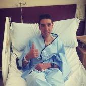 David Valero se rompió la clavícula en la tercera etapa de la Costa Blanca Bike Race, celebrada en la provincia de Alicante.