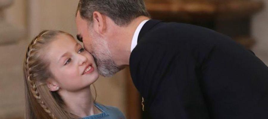 El Rey Felipe VI entrega a la Princesa de Asturias el Toisón de Oro