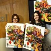 Manuela Nieto y Gloria Sanz durante la presentación de los carnavales de C.Real