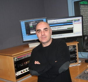 El técnico David Peñalba.