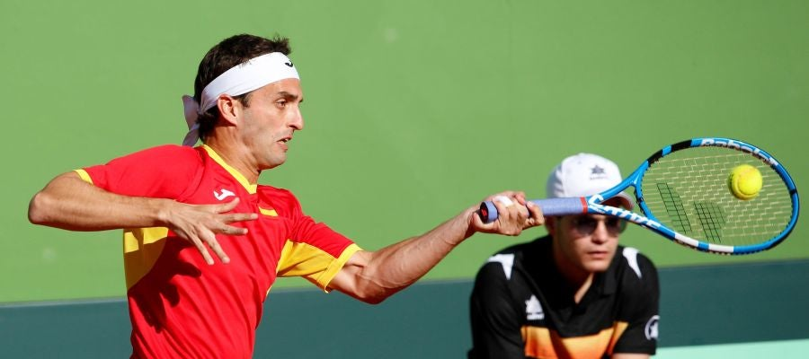 Albert Ramos, en acción ante Broady
