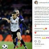 Sergi Roberto se disculpa con Pereira