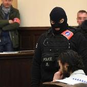 Salah Abdeslam en el juicio