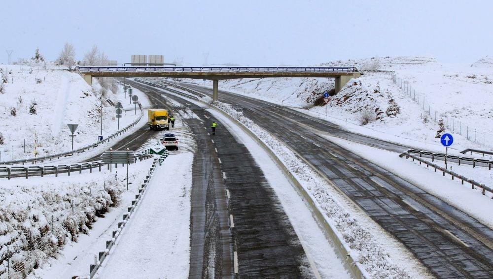 Vista de la autovía A 23 a su paso por Teruel