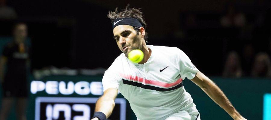 Roger Federer, en acción en el torneo de Rotterdam