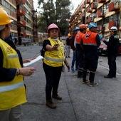 Efectivos tras el terremoto de México
