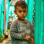 Un niño del Colector 13 en México