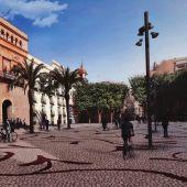 Simulación de la Plaça de Baix de Elche cuando sea peatonal la calle Corredora