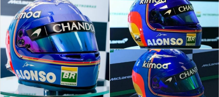 El casco de Fernando Alonso para 2018