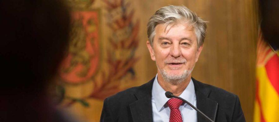 El alcalde Pedro Santisteve