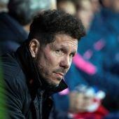 Simeone, durante el partido contra el Copenhague
