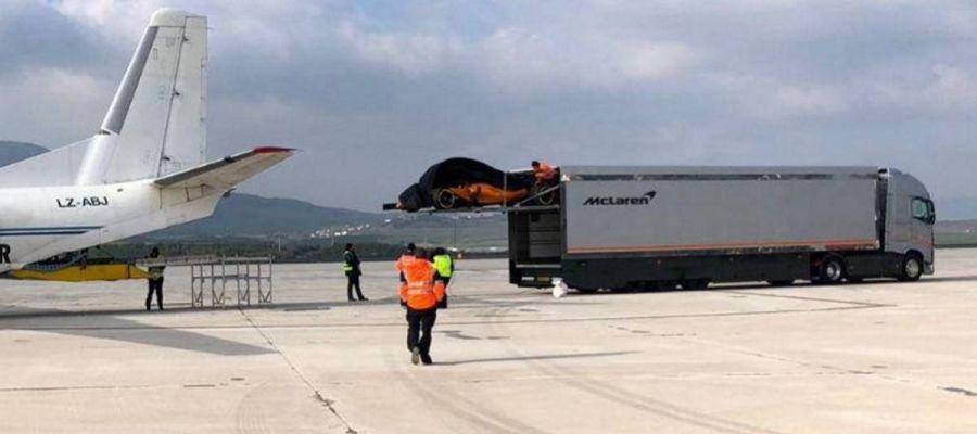 El McLaren, al descubierto en Pamplona