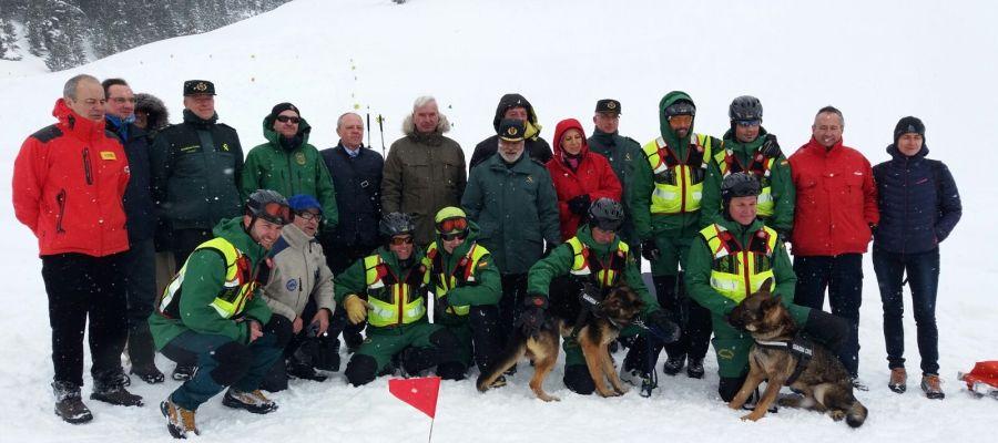 Efectivos de la Guardia Civil de Montaña