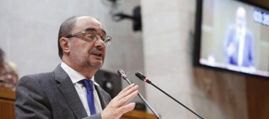 El presidente Lambán en las Cortes