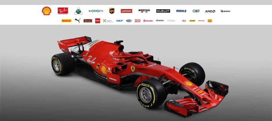 El SF71H, nuevo monoplaza de Ferrari para la temporada 2018