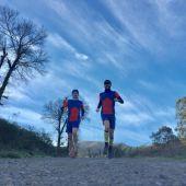 """David Arencibia y Vicente Díaz, del equipo """"Píopio Trailteam"""""""