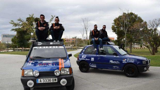 Los dos equipos de la UMH que participarán en el rally UniRaid 2018