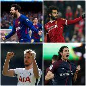 Messi, Cavani, Kane y Salah