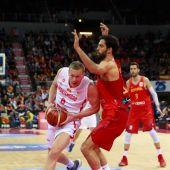 Javier Beirán durante el España - Montenegro