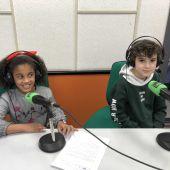 Noa y Enol, alumnos del CP Miguel de Cervantes