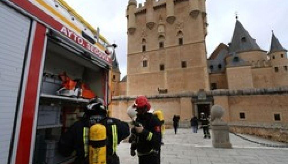 Simulacro de incendio en el Alcázar