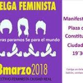 Cartel anunciador de la huelga y manifestación en Ciudad Real