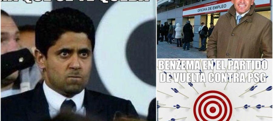 Los 'memes' del partido entre PSG y Real Madrid