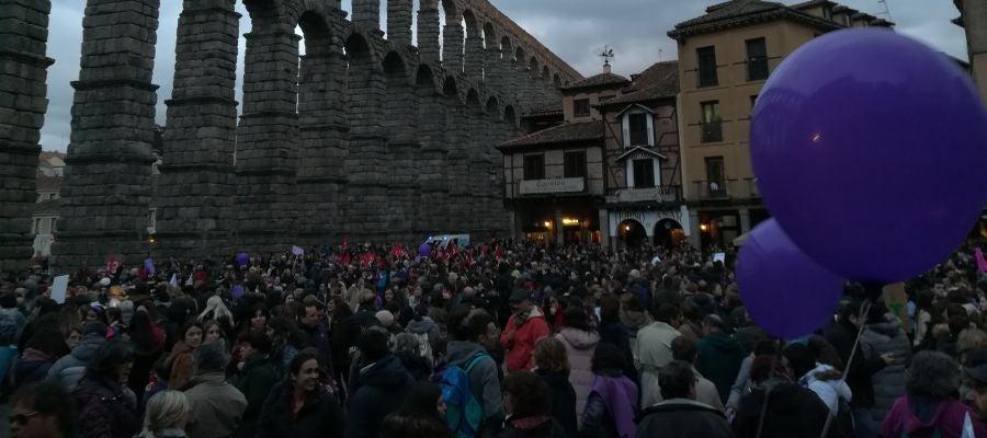 Manifestación del Día de la Mujer en Segovia