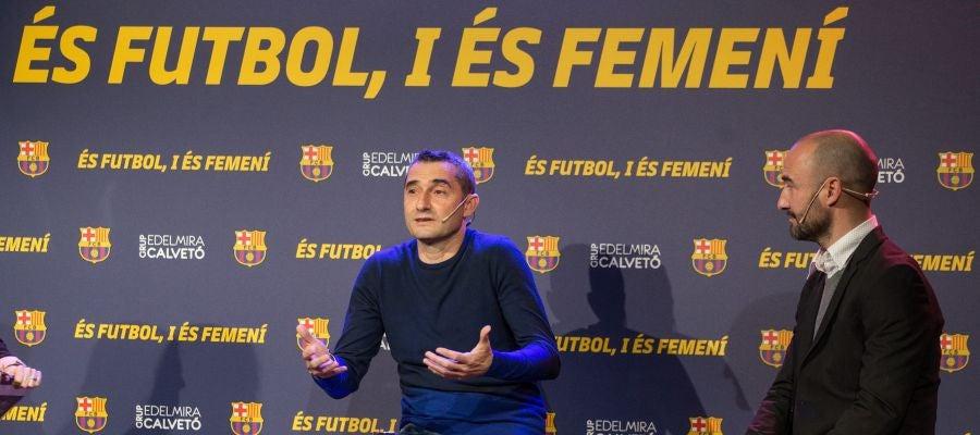 Ernesto Valverde, durante la jornada monográfica dedicada al deporte femenino