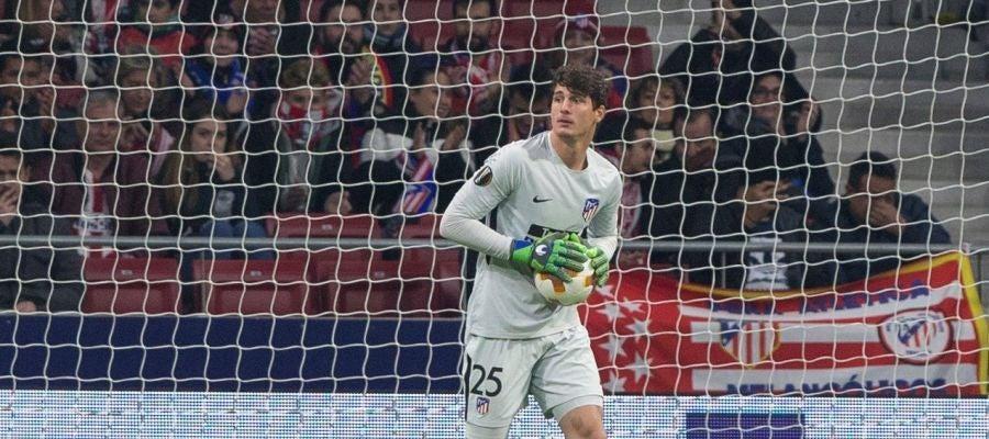 Axel Werner, en su debut con el Atlético de Madrid