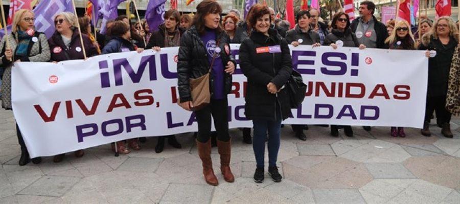 Concentración en el Paseo Constitución de Zaragoza