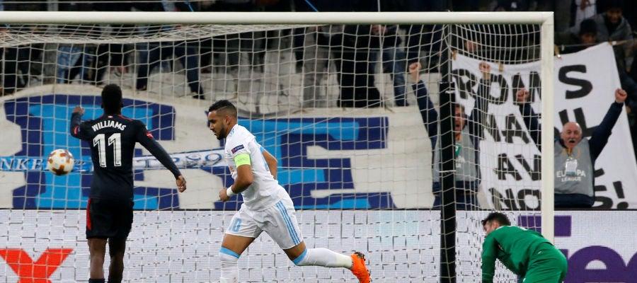Dimitri Payet celebra el 2-0 ante Herrerín
