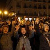 Cacerolada por el 8M en Madrid