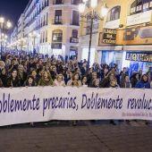 Concentración en Zaragoza para defender la igualdad en el Día Internacional de la Mujer