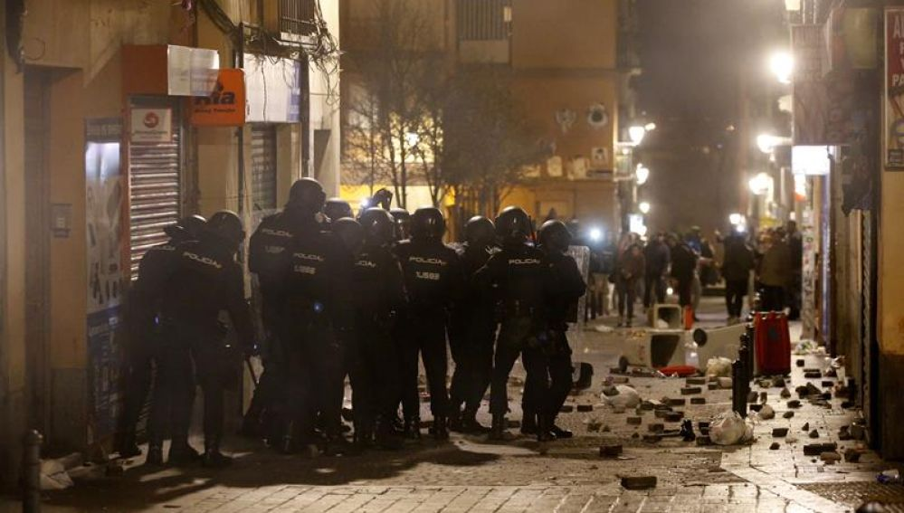 disturbios manteros en Lavapies