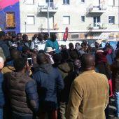 Concentración por la muerte del 'mantero' Mmame Mbage en Lavapiés