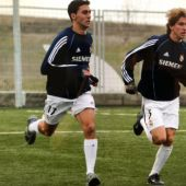 Álvaro Arbeloa con Filipe Luis.