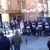 Disturbios en la plaza Nelson Mandela de Lavapiés en Madrid