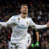 Cristiano Ronaldo celebra un tanto ante el Girona
