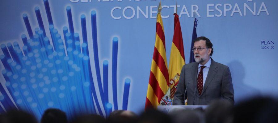 El presidente del Gobierno, Mariano Rajoy, en Teruel