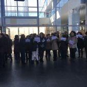 Concentración de los trabajadores de la administración de justicia de Ciudad Real