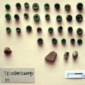 Una muestra de las cuentas de collar entregadas al Museo Provincial