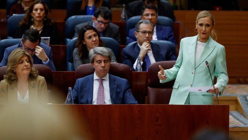 Cristina Cifuentes en la Asamblea de Madrid